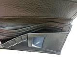 Мужской кожаный кошелек портмоне визитница dr. Bond натуральная кожа, фото 6
