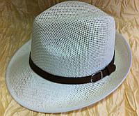 Шляпа летняя мужская белая и молочная с завернутыми сзади полями