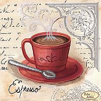 Схема для вышивания бисером Кофе в Париже-3