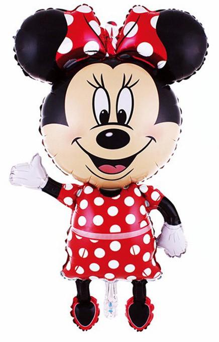 """Шар фольгированный фигурный """"Minnie Mouse"""" с ножками.  Размер: 80см."""