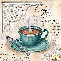 Схема для вышивания бисером Кофе в Париже-4