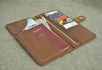 Кожаный мужской кошелек из натуральной кожи ручной работы