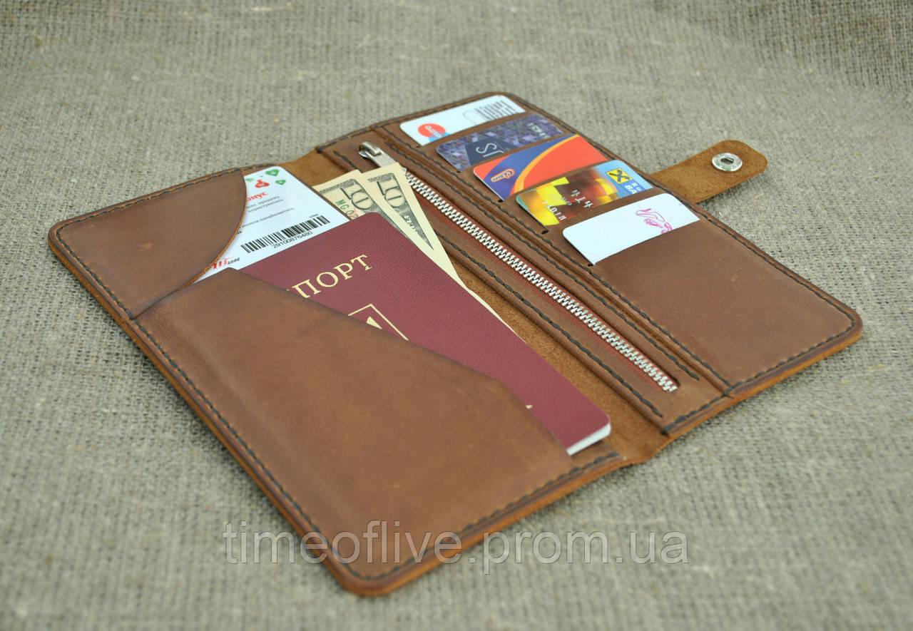 509036de95a2 Кожаный мужской кошелек из натуральной кожи ручной работы - Time of live в  Одессе