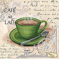 Схема для вышивания бисером Кофе в Париже-5