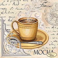 Схема для вышивания бисером Кофе в Париже-6