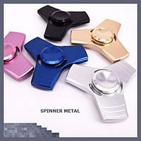 Спиннер ручной игрушка вертушка для рук Spinner метал тройной