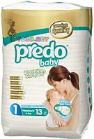 Подгузники для новорожденного 13 шт Predo Baby Newborn 1 small 2-5 kg s-101