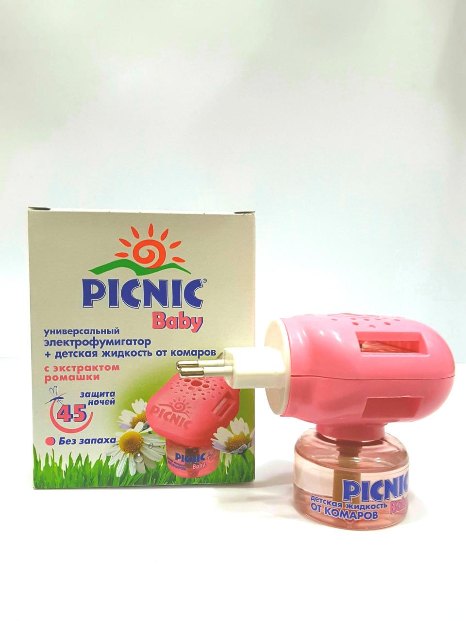 Универсальный электрофумигатор PICNIC BABY + детская жидкость от комаров
