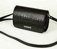 Женская кожаная сумка клатч каркасный