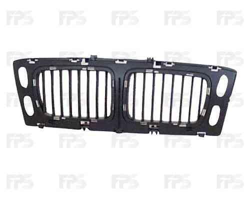 Решетка радиатора BMW 5 E34 94-96 средняя часть, без хром рамок (FPS)