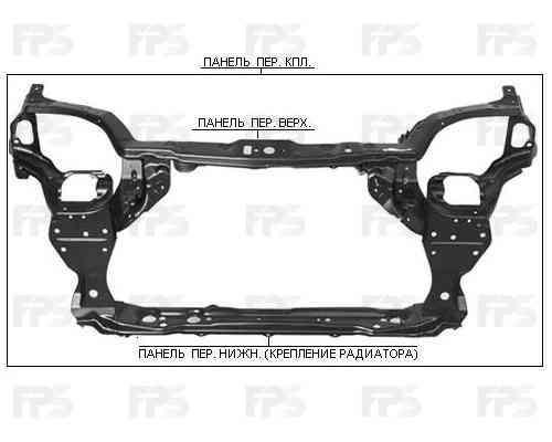 Передняя панель Chevrolet Aveo T200 (04-06) SDN/HB, комплект (FPS) 96440662