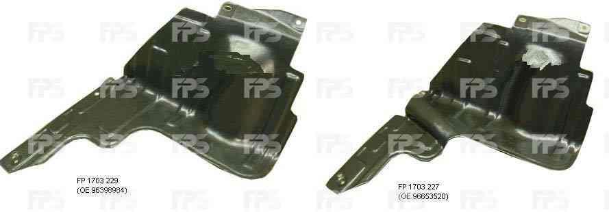 Защита двигателя пластиковая Chevrolet Aveo 09-11, правая (OE 96653520