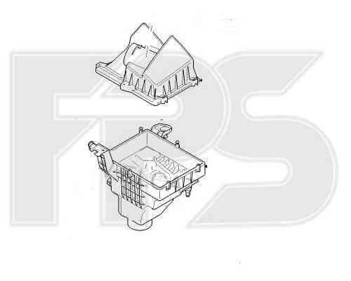 Корпус воздушного фильтра с крышкой Ford C-Max 07-10, кроме Turbo (FPS) , фото 2