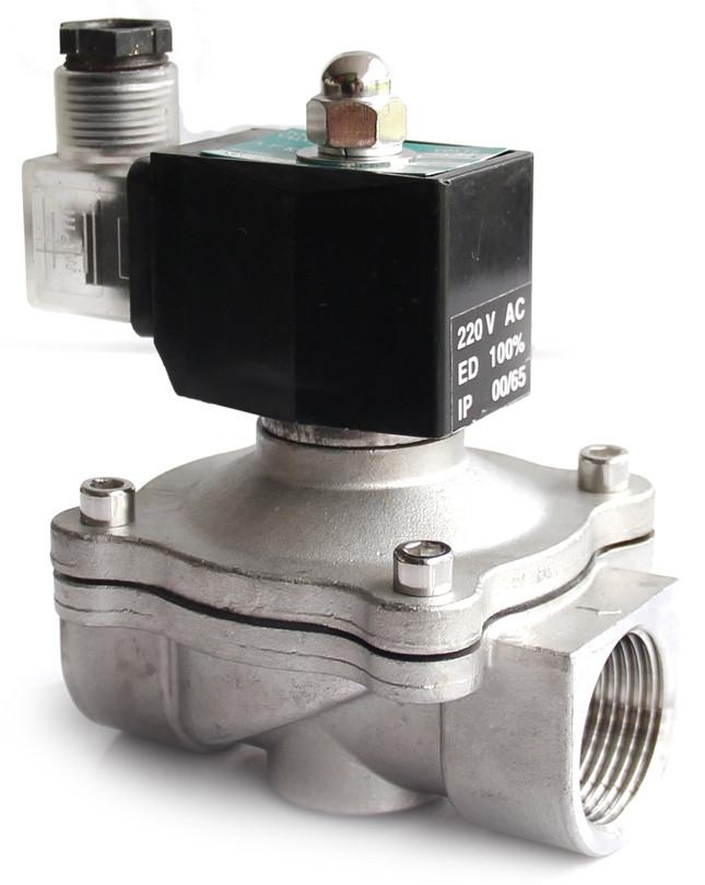 Электромагнитный клапан для воды и газа 2W-20О из нерж. стали