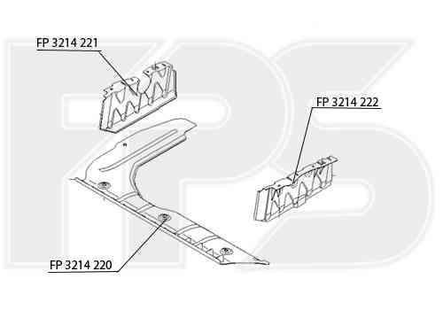 Защита двигателя пластиковая Hyundai Accent 06-10 FP 3214 220 (FPS)