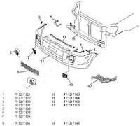 Крепеж переднего бампера Hyundai Tucson '03-09 нижний левый (FPS)