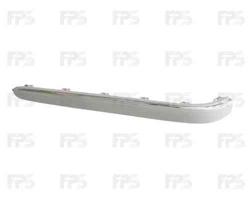 Накладка заднего бампера Mercedes E-Class W211 02-06 правая с хром молдингом (FPS) 2118800412