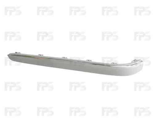 Накладка заднего бампера Mercedes E-Class W211 02-06 правая с хром молдингом (FPS) 2118800412, фото 2