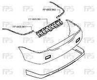 Направляющая заднего бампера Mitsubishi Lancer 9 04-09 правая (FPS)
