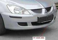 Накладка переднего бампера Mitsubishi Lancer 9 04-06 нижняя, черная (FPS)