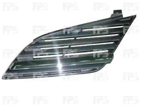 Решетка радиатора Nissan Primera 02-08 с хром молдингом - левая (FPS) 62330AU300, фото 2