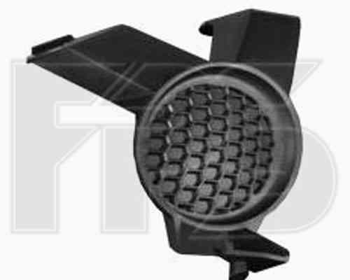 Решетка бампера Nissan Qashqai 06-09 без ПТФ, правая (FPS)