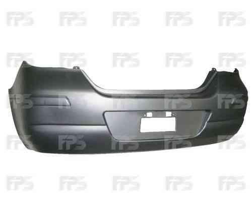 Бампер задний Nissan Tiida 05-, хетчбек, грунт, европ. версия (FPS)