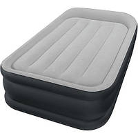 Надувной матрас кровать со встроенным электронасосом Intex 64132