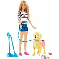 Набор кукла Барби с любимцем на прогулке