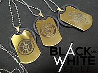 Позолоченных 22 карата (Золотой) Армейских Жетона (1шт.) гравировка одна сторона