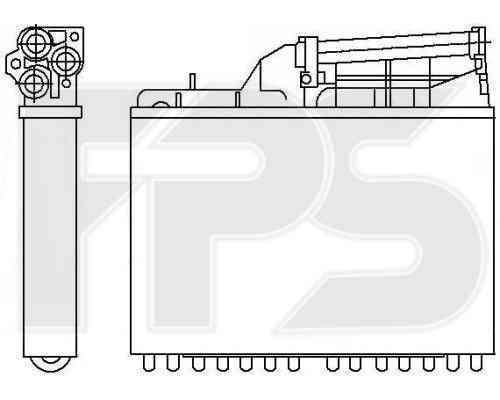 Радиатор печки BMW  5 (E34) 1988-1997