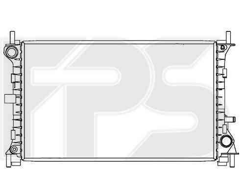 Радиатор охлаждения двигателя Ford Focus I (98-04) 1.6, 2.0 АКПП