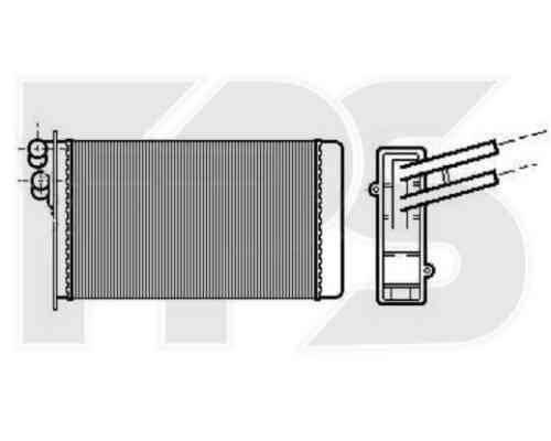 Радиатор печки Audi 80 B3 1986-1991 (AVA) , фото 2