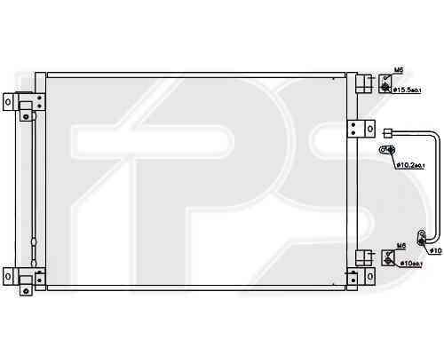 Радиатор кондиционера Subaru Tribeca B9 2005-2007