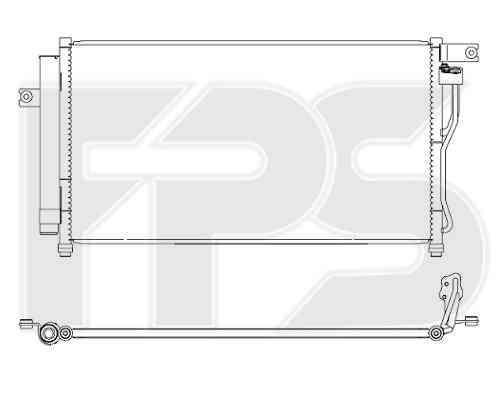 Радиатор кондиционера Hyundai Accent III (06-10) бенз. (FPS)