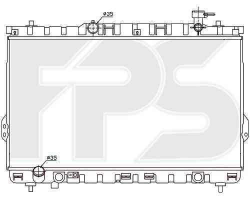 Радиатор охлаждения двигателя Hyundai (NRF) FP 32 A666