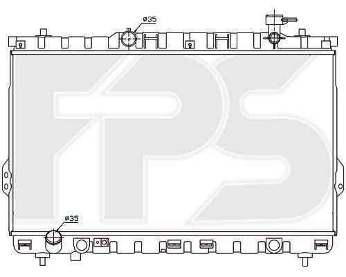 Радиатор охлаждения двигателя Hyundai (NRF) FP 32 A666 , фото 2