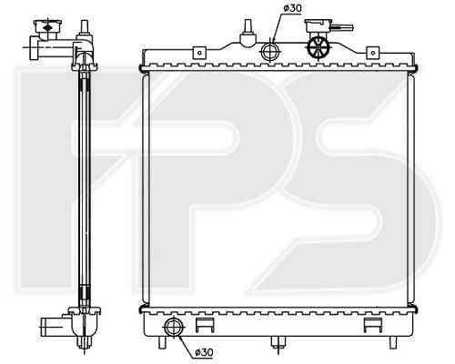 Радиатор охлаждения двигателя Kia Picanto 2004-2008 / Picanto 2008-2011