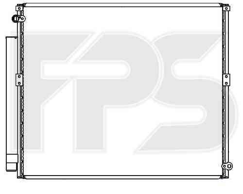 Радиатор кондиционера Toyota Land Cruiser Prado 2003-2009 (J12)