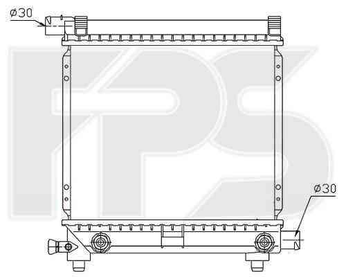Радиатор охлаждения двигателя Mercedes W124 E-Class (84-96) 2.0, 3.0 АКПП, без конд. (AVA)