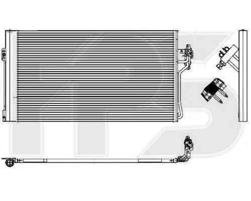 Радиатор кондиционера Mercedes Vito W639 (08-14) (AVA)
