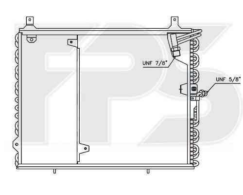 Радиатор кондиционера Mercedes E-Class W124 1984-1996 (E-CLASS)