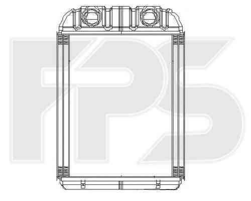 Радиатор печки Porsche Cayene, Audi Q7, VW Amarok, VW Touareg (FPS) , фото 2