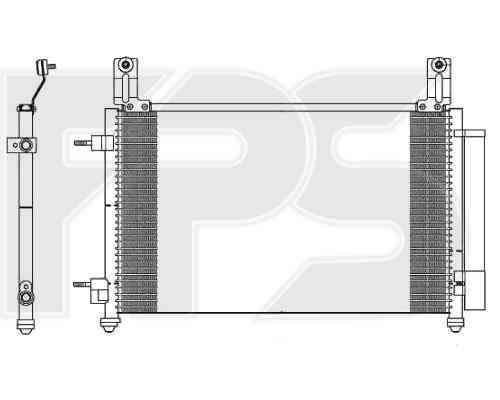 Радиатор кондиционера Chevrolet Spark 2010- (M300)