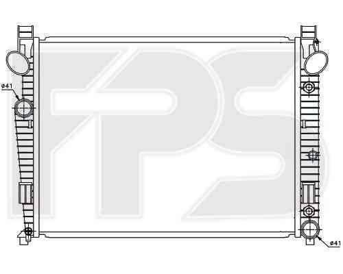 Радиатор охлаждения двигателя Mercedes S-Class W220 4.3, 5.0 (98-02), фото 2