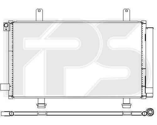 Радиатор кондиционера Suzuki SX4 (06-14) (Koyorad)