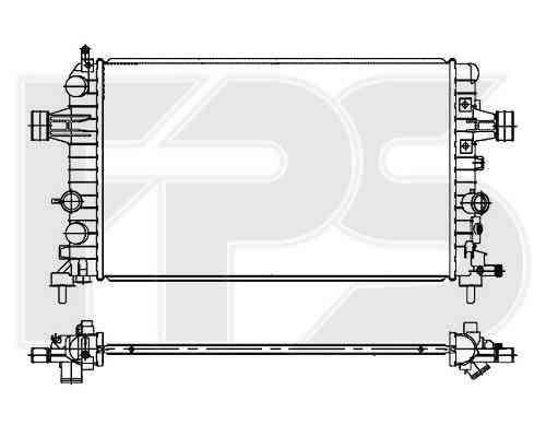 Радиатор охлаждения двигателя Opel  Astra (FPS) FP 52 A305-P