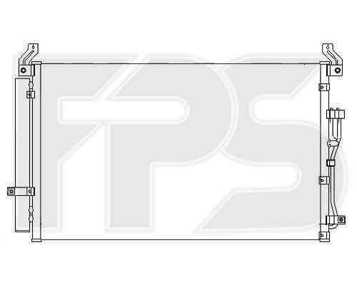 Радиатор кондиционера Hyundai Veracruz 2007-2012