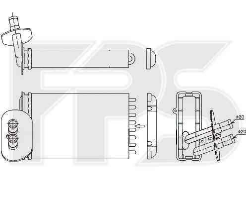 Радиатор печки VW T4 1990-2003 (кроме CARAVELLE 1996-)