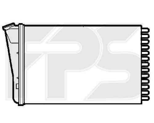 Радиатор печки Opel Omega B (AVA) , фото 2